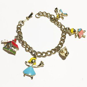 Child's Charm Bracelet w School theme